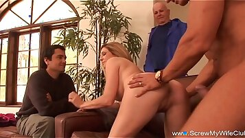 Married wife getting fucked hard by her horny husband