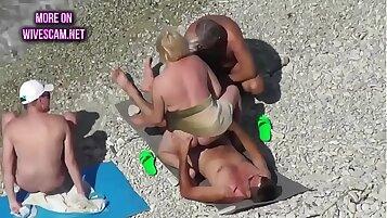 Swinger Mature Girl On Porn Beach