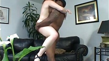 Big black cock sucked by a slougly gals