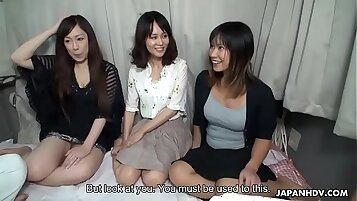 Asian nymphs enjoyed bus rides and having threesome fucking