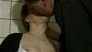 Submissive granny honey fucked with my sticky blowjob