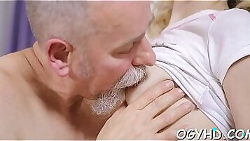 Blonde that has a petite body is fucked by her man