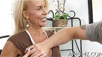 Cock hungry mature beauty rough fucked in pov