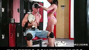 Kendra Lust wrestling but also gets tits sucked and fucked