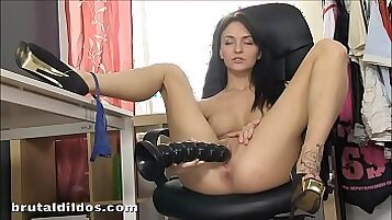 Chesty Beauty Bella Petite Makes Her Pussy Moist With His Sex Toy
