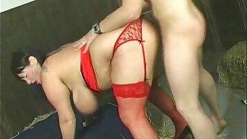 Stunning british wife drilled with BBW