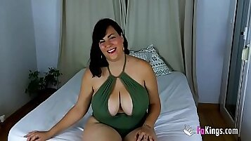 Big titty babes on rainy day in Britain on BBC