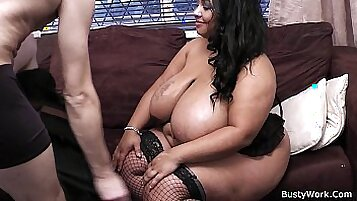Big titted Kinky Tattoed Bitch Fucked Hard by His Boss