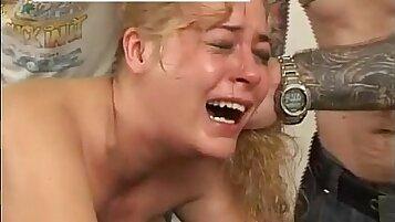 Hard Russian Spanking to Blonde Girl