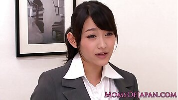 Asian babe licked and banged by older woman