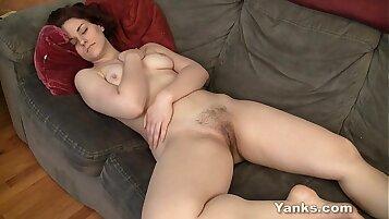 sexy redhead masturbating in bathtub