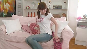 cute teen Alexa Winter reels her cock away