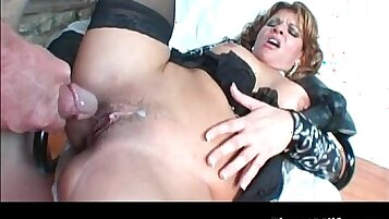 Cock into-tugging-assemb with a slut